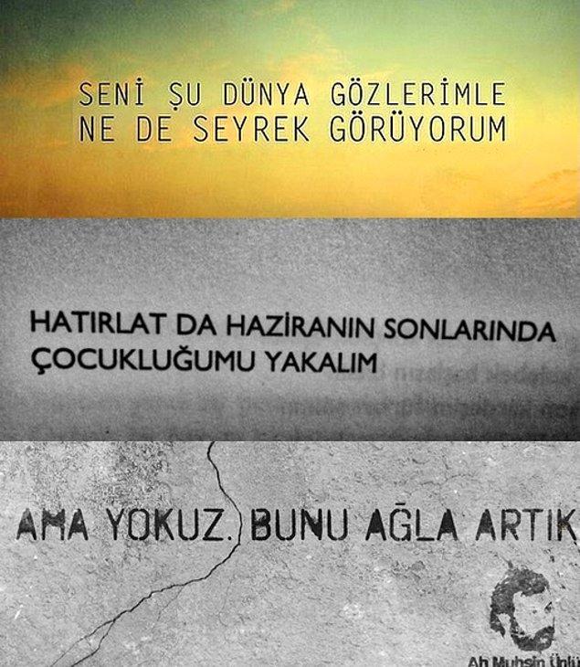 Ah Muhsin Ünlü mahlası ile, Türk modern şiirinin en iç yakan ve en absürt şairlerinden biri oldu.