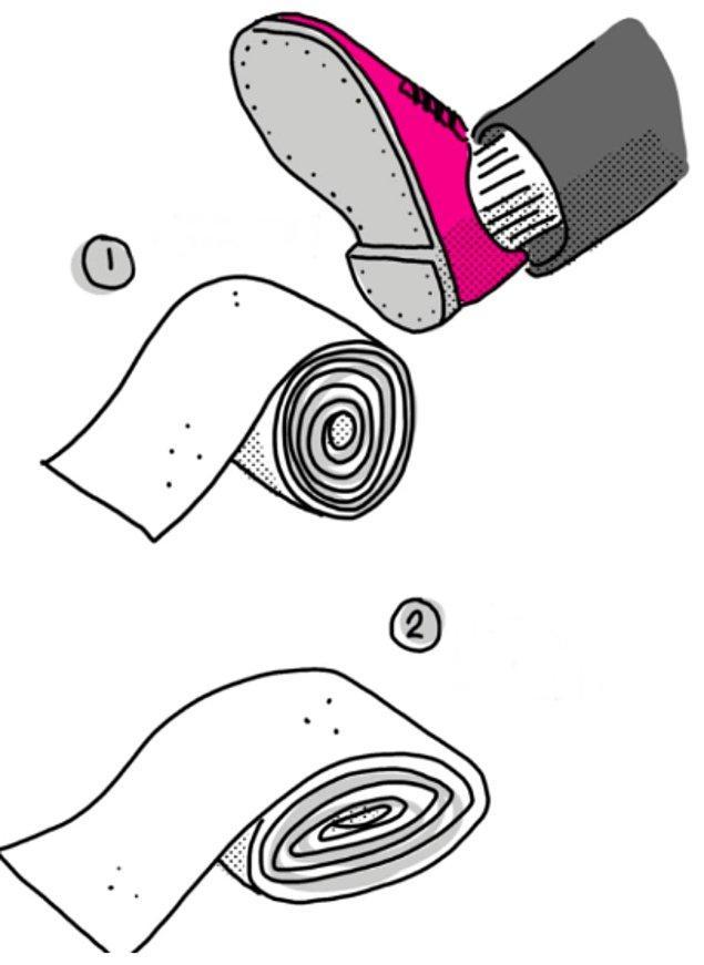 9. Tuvalet kağıtlarını korumak için düzleştirmek yeterli.