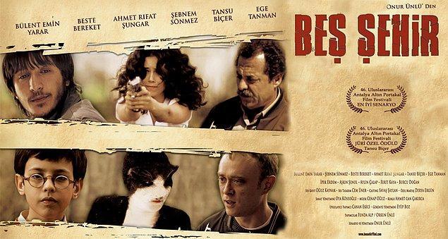 Altın Portakal ödüllü, yönetmenliğini ve senaristliğini üstlendiği film: Beş Şehir.