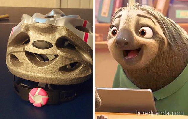 22. Bisiklet kaskında ne işin var Sloth?