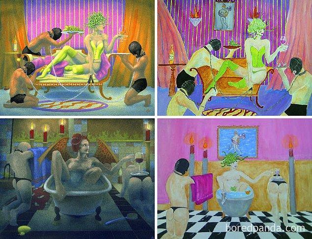 22. Soldaki orijinal çizimler Nancy Farmer'a ait.