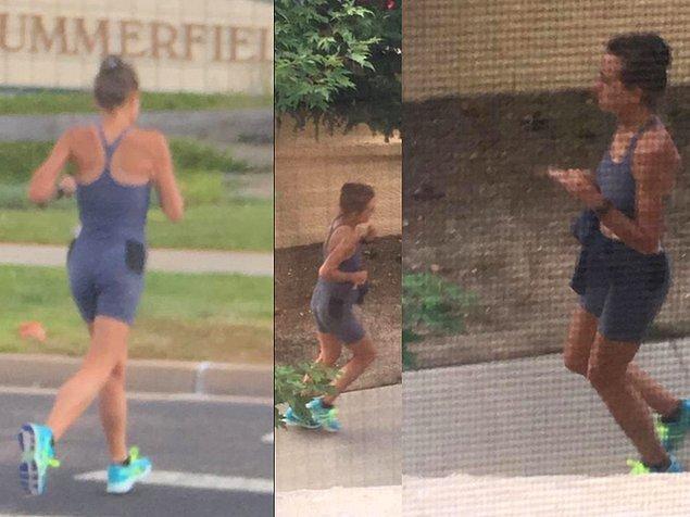 Polisin her yerde aradığı şüpheli; sabah koşusu yaparken mahalledeki evlerin bahçelerine ve park alanlarına kakasını yapan kadın.