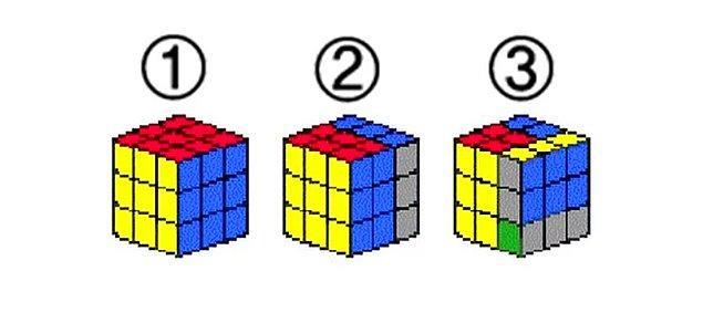 2. Aşağıdaki rubik küplerden hangisi 4. sırada olabilcek niteliktedir?