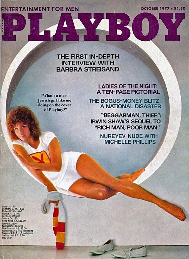 2. 1977: Barbra Streisand, 'Evergreen' şarkısı ona ikinci Oscar'ını kazandırdıktan kısa bir süre sonra kapakta yer aldı.