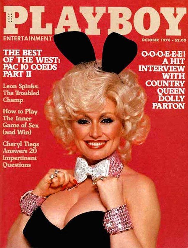 3. 1978: Dolly Parton, 20. albümü olan 'Heartbreaker'ın piyasaya sürüldüğü yılda Playboy kapağındaydı.