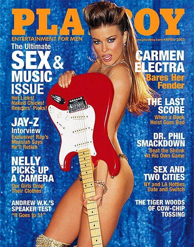 12. 2003: Carmen Electra, tam 21 ülkede 44 defa kapak kızı oldu. Bunlardan 3'ü 2000-2009 arası Amerika'da idi.