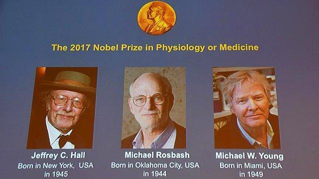 2017 Nobel Tıp Ödülü'nün bu seneki sahipleri Jeffrey C. Hall, Michael Rosbash ve Michael W. Young oldu.