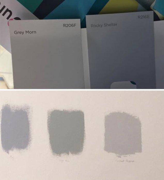 12. Rengi seçtikten sonra duvarında denediğinde ise biraz bekleyip rengin değişimini görmelisin çünkü ilk sürdüğün gibi durmuyor.