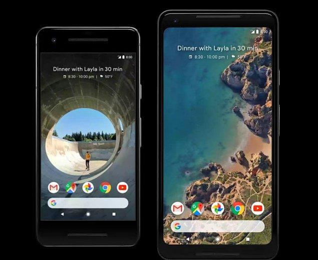 Pixel 2 modeli siyah, beyaz ve turkuaz olarak, Pixel XL 2 ise siyah ve beyaz olarak farklı renklerle kullanıcılarını renklendirecek. İki model de 64 ve 128 GB'lık kapasite seçeneklerine sahip.