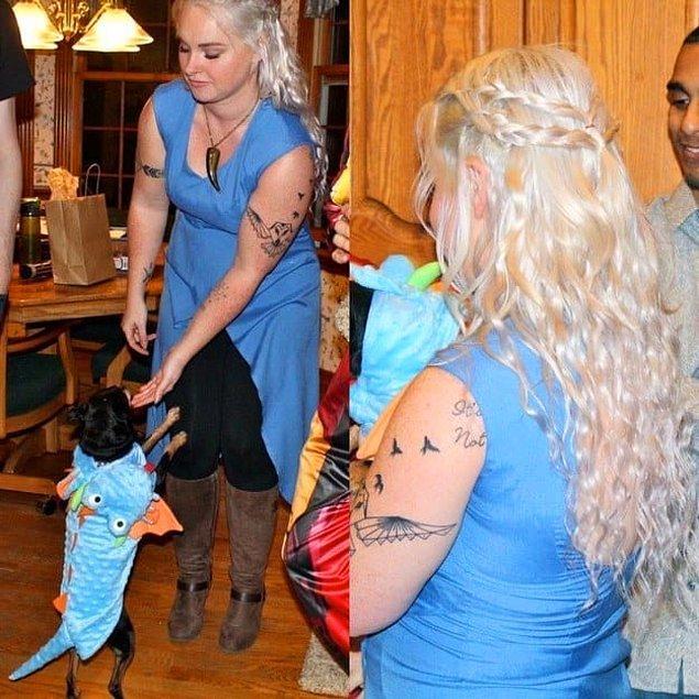 7. Daenerys için, eğer varsa köpeğinizi de işin içine katabilirsiniz.