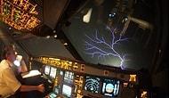 'Aziz Elmo Ateşi' Adı Verilen Atmosferdeki Elektriklenmenin İçinden Geçen THY Uçağı