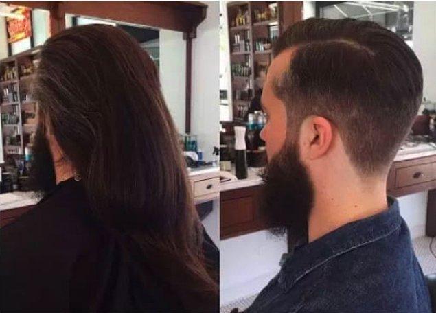 5. Bu kadar uzun saçtan sonra zor olsa gerek. 🤔