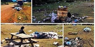 Dersimiz Çevreyi Koruma: Bolu'da 8 Bin Kişilik Doğa Kampından Geriye Çöp Yığınları Kaldı