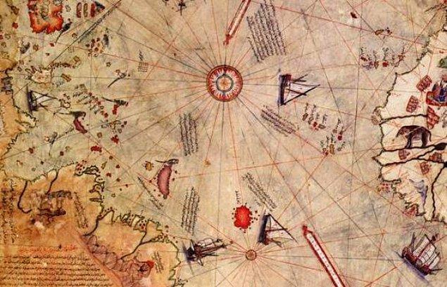 Yavuz Sultan Selim'in Mısır seferi sırasında donanmada bulunan Piri Reis çizdiği ilk dünya haritasını 1517'de padişaha takdim etti.