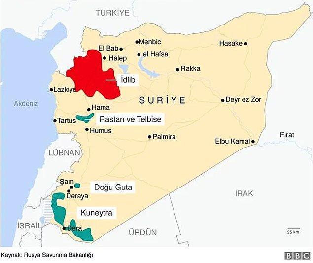 Çatışmasızlık bölgelerinden biri olarak belirlenen İdlib için 15 Eylül'de anlaşmaya varılmıştı.
