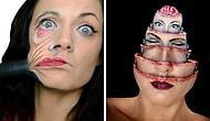 Makyaj Yeteneğini Konuşturup Korkunç Yaratıklara Dönüşebilen Sanatçı; Samantha Staines!