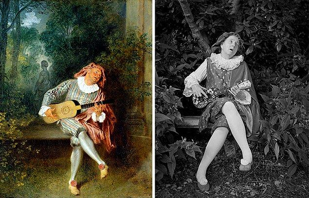 7. Mezzetin – Jean-Antoine Watteau