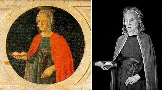 13. St Agatha – Piero Della Francesca