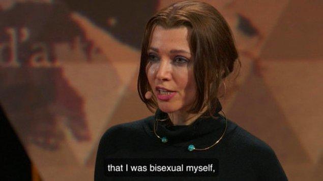 Bugün de TED konuşması yaptığı sırada herkesi şok eden bir şey itiraf etti... Biseksüel olduğunu!
