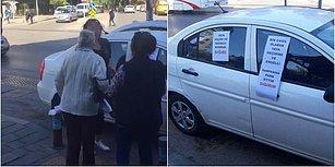 Özrü Kabul Edilmedi: İzmir'de Yaya Geçidi ve Engelli Rampasına Otomobilini Park Eden Kadına Tepki