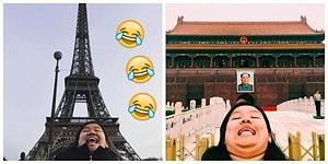 'Kusursuz' Manzaralardan Sıkılmadık mı? Dünyayı Gezerken Gıdılı Selfieler Çeken Kadın! 😂