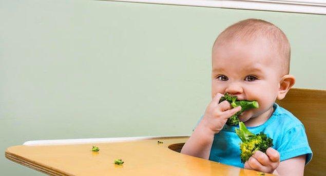 Abur cuburdan, asitli içeceklerden, aşırı karbonhidrattan ve mevsiminde olmayan sebze-meyveden bebeğinizi uzak tutun.