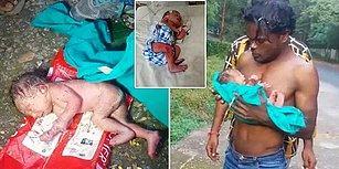 İçimiz Parça Parça! Hindistan'da Yeni Doğmuş Bir Bebek Çöp Kutusunda Ölüme Terk Edildi