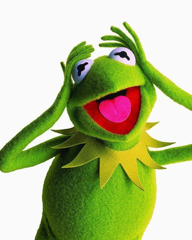 Kurbağa Kermit çıktı!