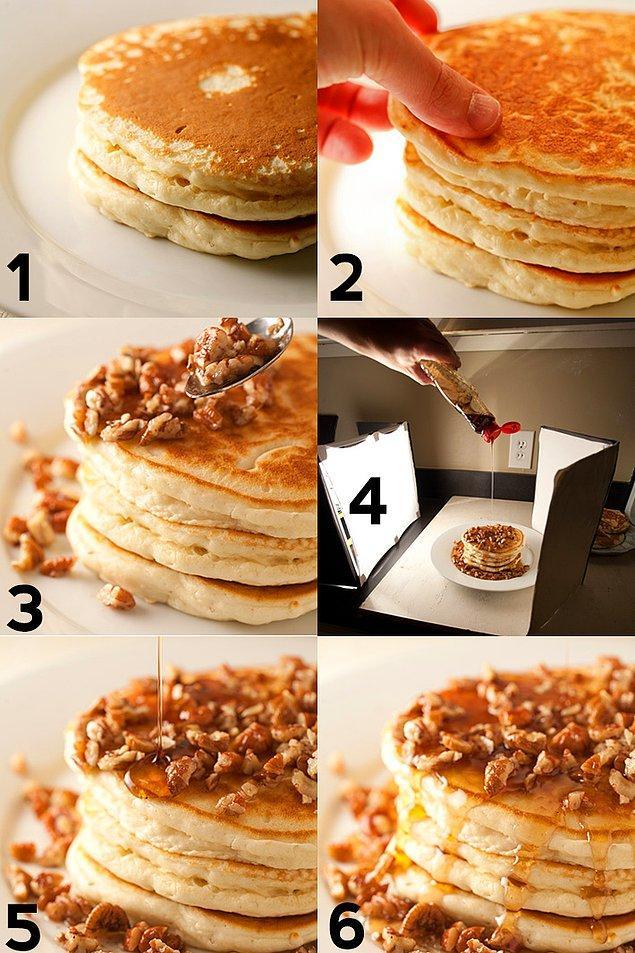 4. Krep gibi üst üste istiflenen yiyecekler, genellikle katmanlar arasında mukavva ile destekleniyor.