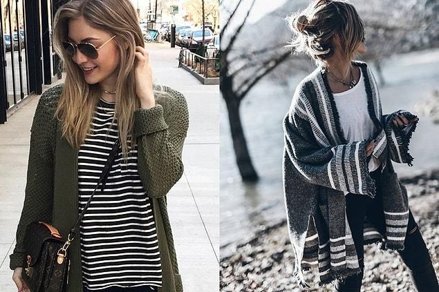 Öncelikle hırkanın neden kurtarıcı bir parça olduğuyla başlayalım. Kışın ince ama kat kat giyinmek, tek kalın bir parça giymekten daha çok sıcak tutar sizi.