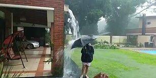Yağmur Suyuyla Oynarken Yanı Başına Yıldırım Düşen Çocuk