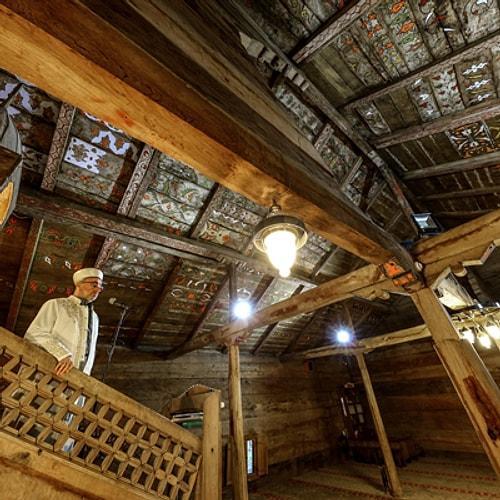 деревянная мечеть без гвоздя