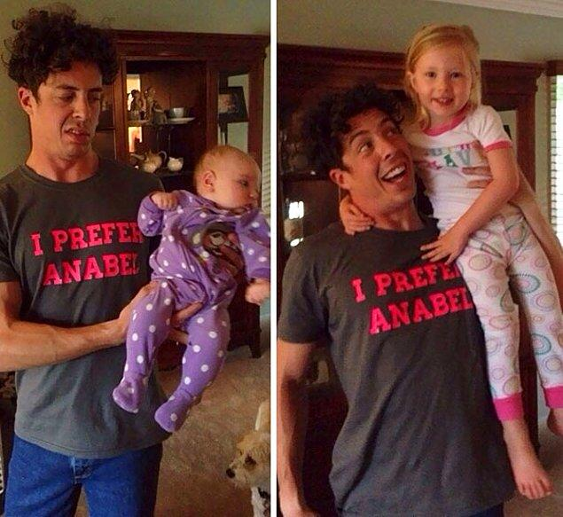 10. Yeni yeğenim Claira ve büyük olan Anabel ve benim yüz ifadesi.