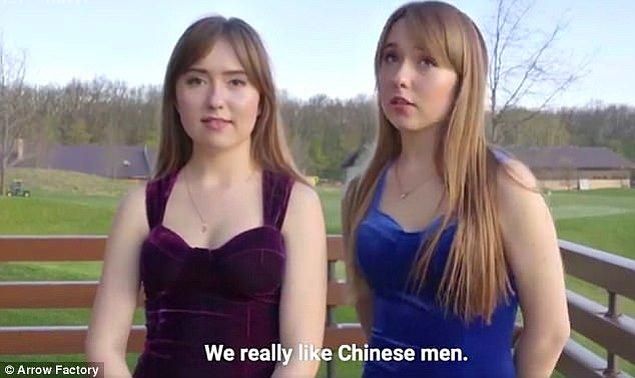 Ukraynalı kadınlar ise Çinli erkeklerin cömert, düşünceli ve şirin olduğunu söylüyor.