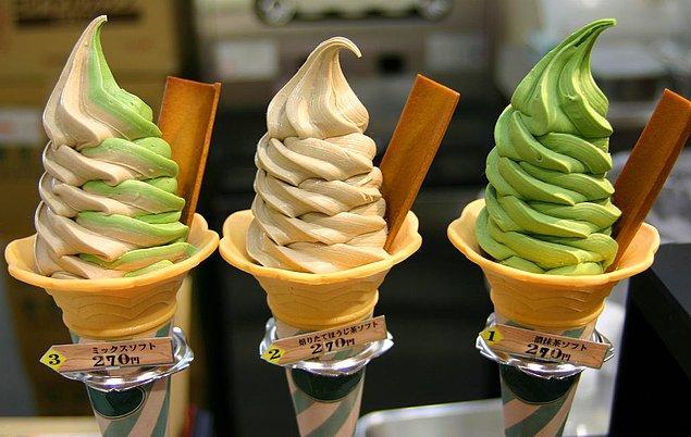 14. Japon dondurmaları kaktüs, ahtapot, tavuk kanadı, yengeç ve çiğ at eti olmak üzeri birçok çeşitteki farklı tada sahiptir.