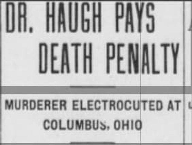 4. Dr. Oliver Haugh cinayetleri, 1905