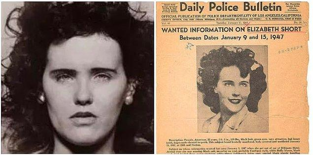15. Elizabeth Short'un ölümü, diğer adıyla Black Dahlia, 1947