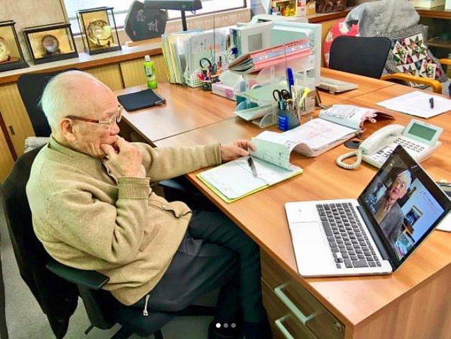 6. Hala çalışmaya doyamayan 92 yaşındaki girişimci 😳