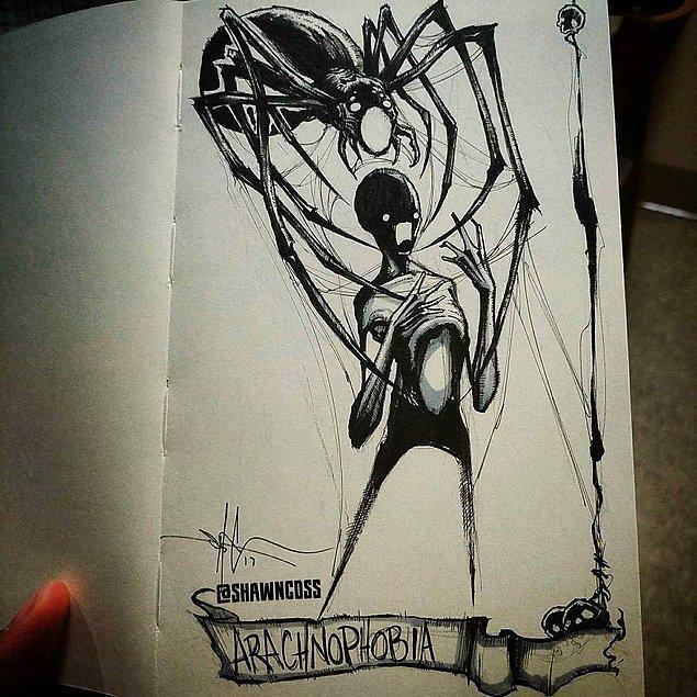 6. Örümcek korkusu