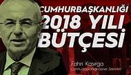 Cumhurbaşkanlığı 2018 Yılı Bütçesi: 845 Milyon 365 Bin ₺