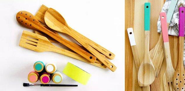 12. Mutfak eşyalarını kişiselleştirin.