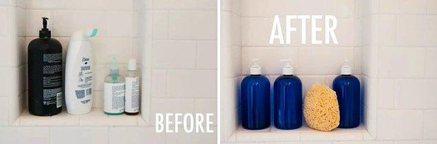22. Duş malzemelerini güzelleştirin.