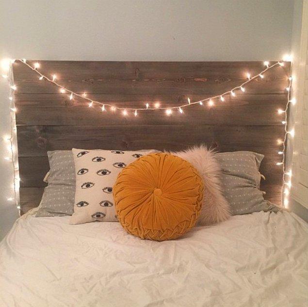 24. Önce yatağı alın, karyola başlığını sonra ayarlarsınız.