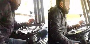Telefonda Video İzleyip, Tespih Çekerken Minibüs Kullanan Şoför