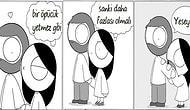 Bizimkisi Siyah Beyaz Bir Aşk Hikayesi! Bir Kadının Sevgilisiyle Günlük Yaşamını Konu Alan 15 Karikatür