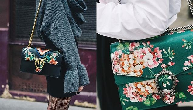 Kış mevsimi için çiçek desenini kıyafetlerinizde fazla iddialı buluyorsanız da bu deseni aksesuarlarınıza da taşıyabilirsiniz.