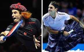 Roger Federer İskoç Eteği Giyerek Andy Murray ile Maç Yaptı