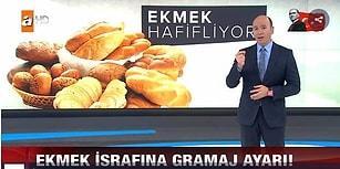 Her Şey Sizin İçin! ATV Haberden Ekmeğin Küçültülmesine 'Ekmek İsrafına Gramaj Ayarı' Başlığı