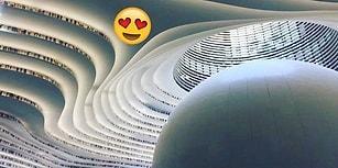 İçindeki 1.2 Milyon Kitabın Yanısıra Tasarımıyla Nefesimizi Kesen Kütüphane Çin'de Açıldı!