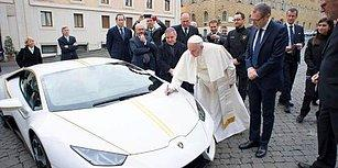 200 Bin Euro'luk Lamborghini'yi Kutsayan Papa